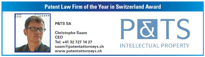 corporate Intl: P&TS is patent law firm of the year in 2015